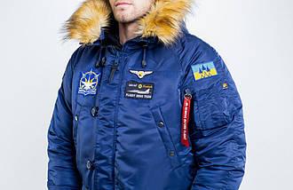 Куртка чоловіча зимова з нашивками Olymp - Аляска N-3B, фото 2