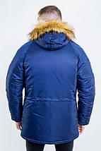 Куртка чоловіча зимова з нашивками Olymp - Аляска N-3B, фото 3