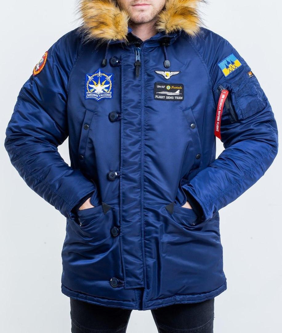 Куртка чоловіча зимова з нашивками Olymp - Аляска N-3B