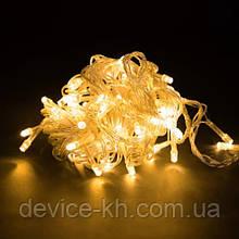 Гирлянда 100LED (RD-7140) 9м Провод-Белый, Цвет ламп-Теплый