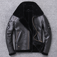 Мужская зимняя дубленкаCOOK&CO XL черная. (01453)