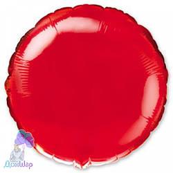 Фольгированный Шар Круг Flexmetal 9''/23 см Металлик Красный