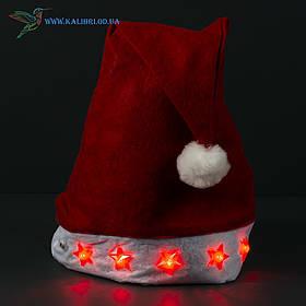 Новогодняя шапка Деда Мороза, светящиеся ОО-99