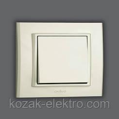 MINA Выключатель 1 клавишный цвет белый