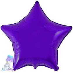 Фольгированный Шар Звезда Flexmetal 9''/23 см Металлик Фиолетовый