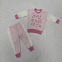 Пижама детская трикотажная для девочки на рост 86 (1-1,5 года)