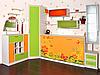 Шкаф-кровать с фотопечатью в детскую