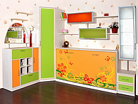 Шкаф-кровать с фотопечатью в детскую, фото 1