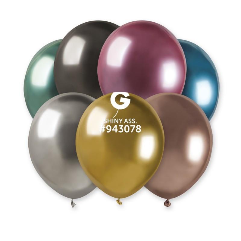 """Воздушные шары Gemar AB50  Хром микс цветов 5"""", 100 шт."""