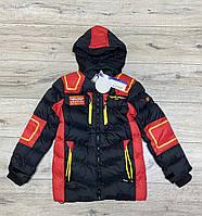 Зимова куртка зі знімним капюшоном ( Утеплювач-Холофайбер і хутро). 10 років.