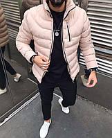 Мужская куртка зимняя розовая ( холлофайбер, Турция )
