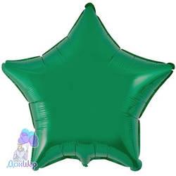 Фольгированный Шар Звезда Flexmetal 9''/23 см Металлик Зеленый