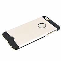 Чехол-накладка для iPhone 6 Plus, поликарбонат с металической вставкой, Cococ, Шампань /case/кейс /айфон