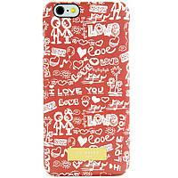 Чехол-накладка для Apple iPhone 6, пластиковый, Soft Touch, Ted Baker, I Love You /case/кейс /айфон