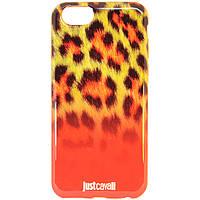 "Чехол-накладка для Apple iPhone 6, ""Леопард"", Just Cavalli оранжевый /case/кейс /айфон"