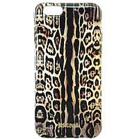 "Чехол-накладка для Apple iPhone 6, ""Леопард"", крупный рисунок, Just Cavalli, коричневый /case/кейс /айфон"