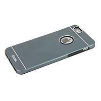 Чехол-накладка для iPhone 6 iPhone 6S, алюминий с силиконом, Prady Series, Aliki, Графитовый  /case/кейс