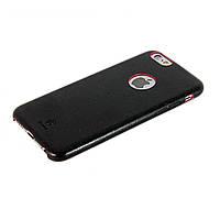 Чехол-накладка для iPhone 6, Baseus, кожаный ультратонкий, Черный с красным /case/кейс /айфон
