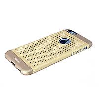 Чехол-накладка для iPhone 6, перфорированный алюминий, Kono Series, Aliki, Золотистый /case/кейс /айфон