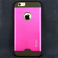 Чехол-накладка для Apple iPhone 6, поликарбонат с металлической вставкой, Cococ, малиновый /case/кейс /айфон
