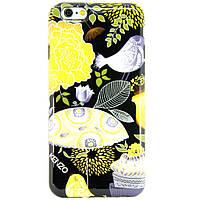 Чехол-накладка для Apple iPhone 6, iPhone 6S, силиконовый, Kenzo, Flowers series, Черный /case/кейс /айфон