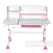 Комплект для девочки 👧 парта Amare II Pink с выдвижным ящиком + Подростковое кресло FunDesk Bello II Grey, фото 3