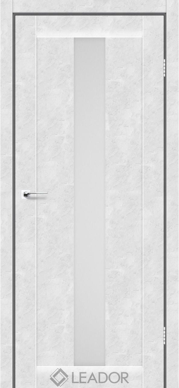 Двери Leador BARI Белый бетон ПО