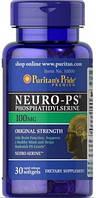 Стимуляция работы мозга Puritan's Pride - Neuro-PS 100 мг (30 капсул)