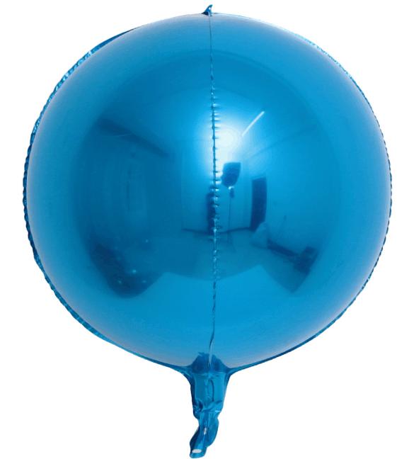 """Фольгована кулька 4D сфера Синій 22"""" (55 см) Китай"""