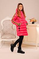 Зимняя куртка пуховик для девочки 158 см. Детская теплая куртка