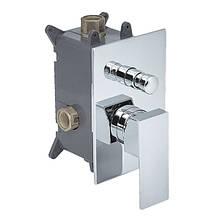 Двопозиційний прихований змішувач для ванни/душа (прямокутний) CM-11.S-200-02