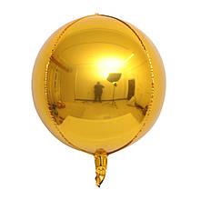 """Фольгована кулька сфера 4D золото 10"""" Китай"""