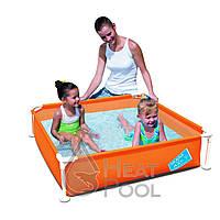 Каркасный бассейн Bestway 56217 (122х122х30,5) Orange