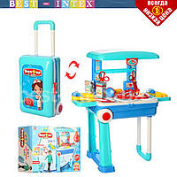 Детский набор доктора 008-925 стол с медицинскими инструментами