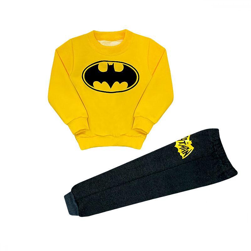 Детский спортивный костюм для мальчика Бэтмен трехнитка