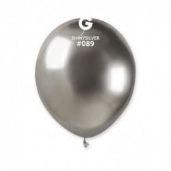"""Воздушные шары Gemar AB50  Хром серебро 5"""", 100 шт."""