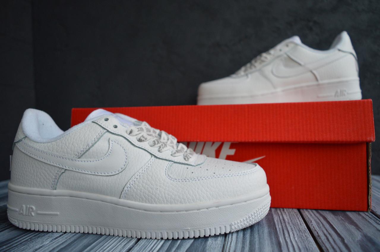 Nike Air Force low белые найк кроссовки  мужские форс кеды 42-43