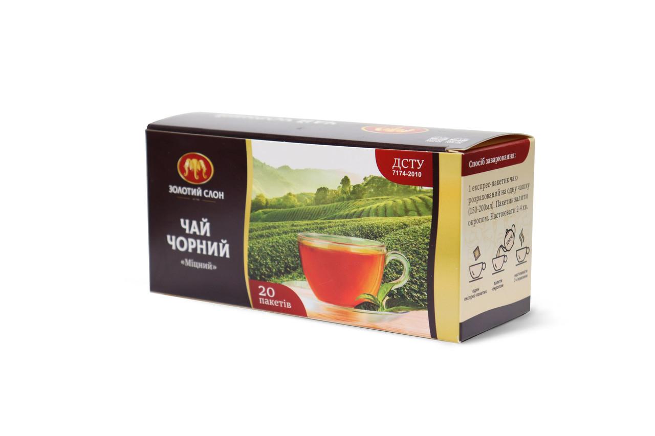 Чай Золотий Слон чорний Міцний ф/п 20*1,3г б/я