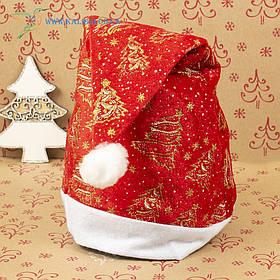 Новорічна шапка Діда Мороза, новорічний ковпак ГО-66