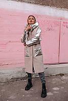 Женская зимняя комбинированная куртка, фото 1