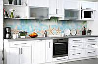 """Скинали на кухню Zatarga  """"Морские звезды 02""""  600х3000 мм виниловая 3Д наклейка кухонный фартук самоклеящаяся, фото 1"""
