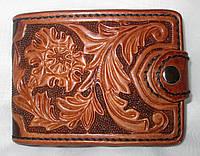 Кожаный кошелек ручной работы, фото 1