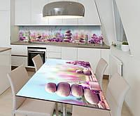 Наклейка 3Д виниловая на стол Zatarga «Пейзаж 3Д» 650х1200 мм для домов, квартир, столов, кофейн, кафе, фото 1