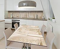 Наклейка 3Д виниловая на стол Zatarga «Винтажные Корабли» 650х1200 мм для домов, квартир, столов, , фото 1