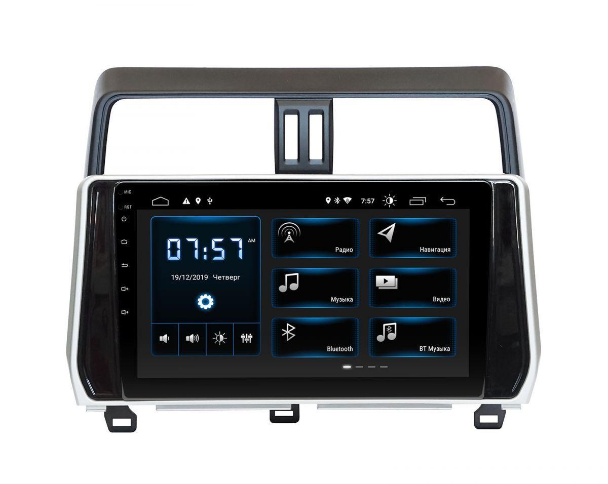 "Toyota Prado 150 2018+  Incar Android 9 10"" DSP штатная магнитола на тойота на тойоту прадо 150"