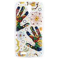 """Чехол-накладка для Lenovo S820, """"Hands with flowers"""", со стразами, силиконовый  /case/кейс /леново"""