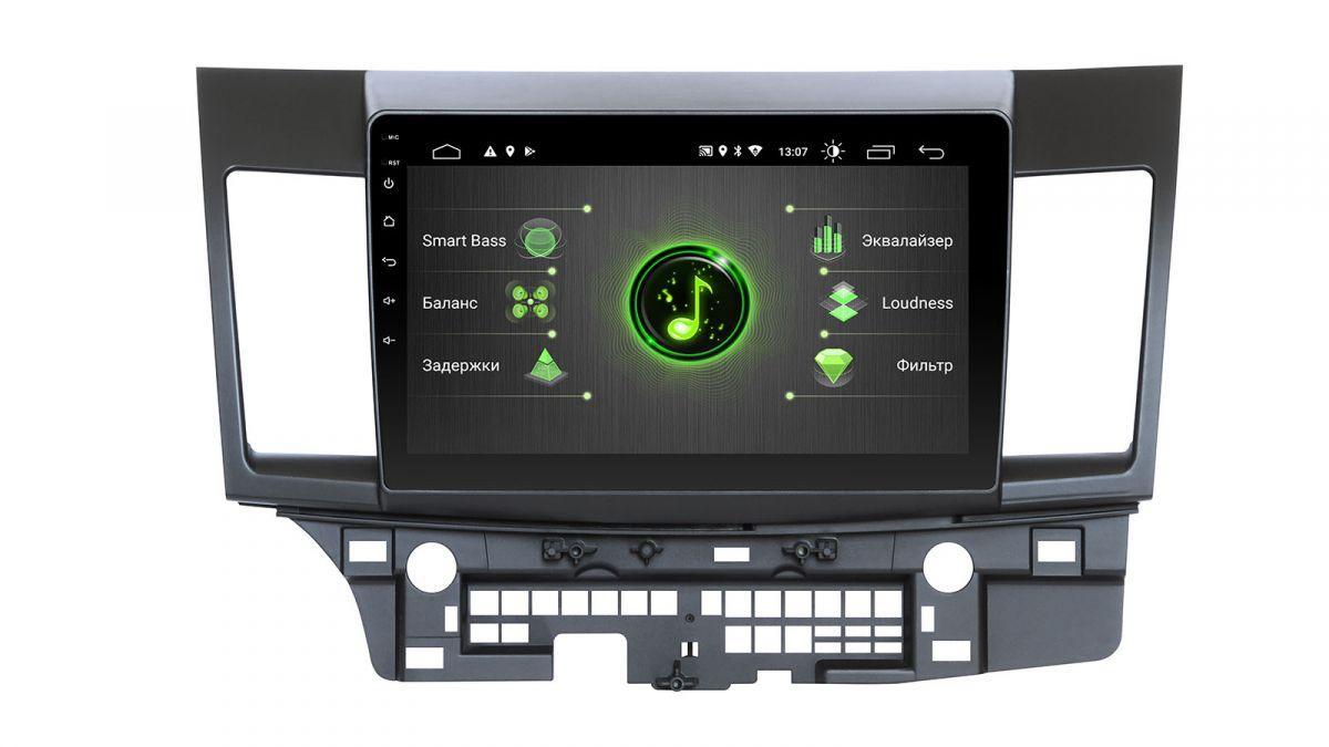 "Mitsubishi Lancer X Incar Android 9 10"" DSP штатная магнитола на митсубиси на митсубиши лансер"