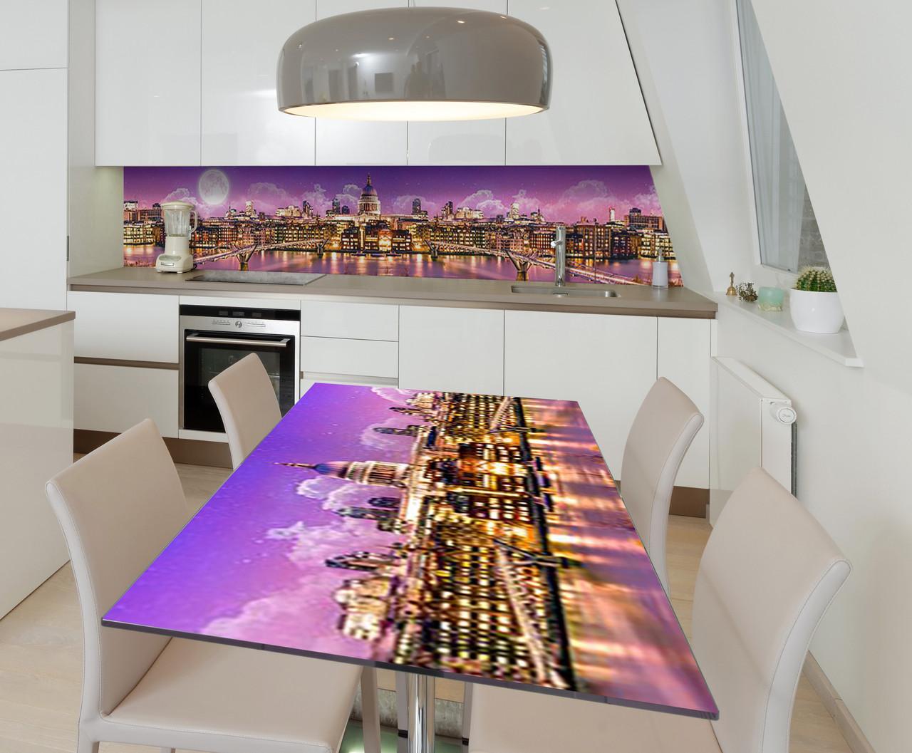 Наклейка 3Д виниловая на стол Zatarga «Дворец шейха» 600х1200 мм для домов, квартир, столов, кофейн,