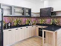 """Скинали на кухню Zatarga  """"Полевые цветы""""  600х3000 мм виниловая 3Д наклейка кухонный фартук самоклеящаяся, фото 1"""