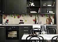 """Скинали на кухню Zatarga  """"Виноград и Лоза""""  600х2500 мм виниловая 3Д наклейка кухонный фартук самоклеящаяся, фото 1"""